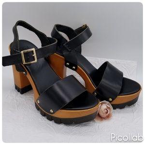 ASOS 70s Retro Leather Clogs